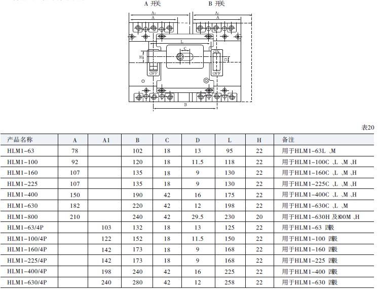 励分脱扣器 ① 接线图(虚框内为开关内部附件); ② 电压规格:ac50hz